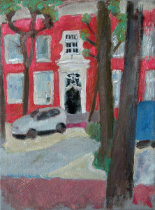 Het rode huis, of Lindenplein, Noordwijk, aangepaste maat