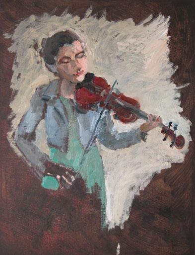 feliz met viool, klein bestand