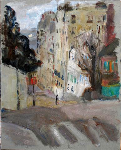 de achterkant van Montmartre, Parijs site